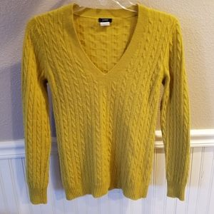 J Crew XS V-neck Sweater wool blend